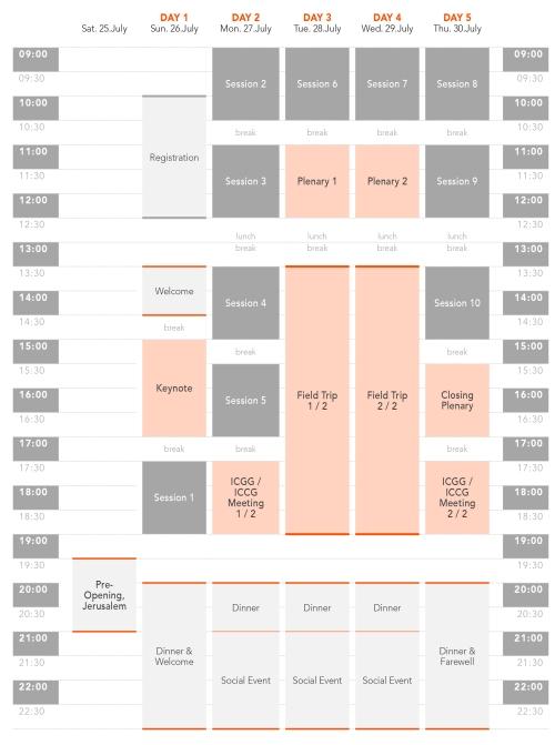 ICCG2015–Schedule